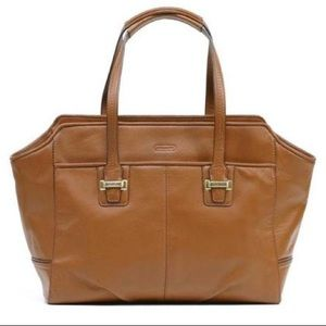 Coach TAYLOR LEATHER SADDLE AEXIS CARYALL TAN